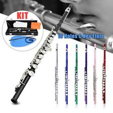 New Different Colors 16 Hole C Flute for Student Beginner School Band w/ Case