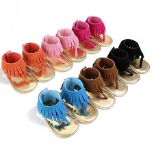 Double Tassel PU Leather Baby Moccasins Child Summer Girl Sandals Infant Sneaker
