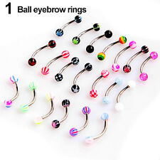 Ball Cone Dice Rhinestone Eyebrow Lip Tongue Nose Navel Belly Button Rings Funny