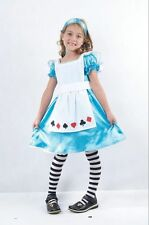 Child Alice Girls Book Week Fancy Dress Kids Wonderland Party Costume Outfit