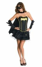 Adult Sexy Superhero Batgirl Corset Ladies Fancy Dress Hen Party Costume Outfit