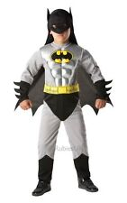 Kids Marvel Superhero Total Amour Batman Boys Fancy Dress Costume Party Outfit