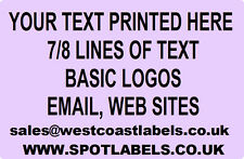 Rolls of Printed Personalised LILAC ADDRESS Labels - 38mm x 25mm