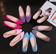 Women Ladies Slip On Flat Shoe Pumps Ballet Dolly Casual Ballerina Shoes Size