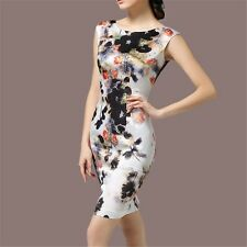 Women Spring Summer Sleeveless High-end Floral Women Silk Dress Plus Size