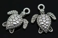 Hot 60/300pcs Tibetan Silver Lovely tortoise Jewelry Charms Pendant 16x12.5mm F