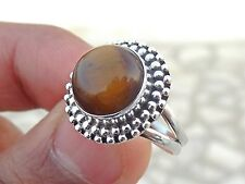925 SOLID STERLING SILVER FIRE GENUINE Tiger's Eye RING SIZE 4-13