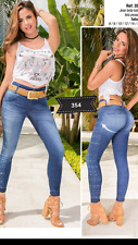 JEANS COLOMBIANOS, F354, Authentic Colombian Push Up Jeans, Jean Levanta Cola