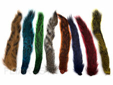 SQUIRREL TAIL - Hareline Fly Tying Hair Natural Blue Green Purple Red Yellow NEW