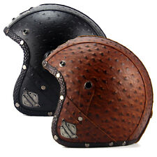 M-XL Unique Unisex DOT Retro Harley 3/4 Half Helmet +Bubble Visor Motorcycle