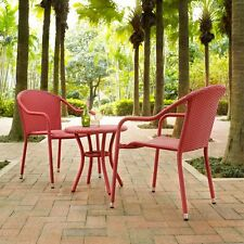 3 Piece Resin Wicker Outdoor Patio Bistro Seating Set Home Furniture Multi-Color