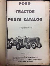 1960 Large Ford Tractor Parts Catalog For Models 9N 2N 8N