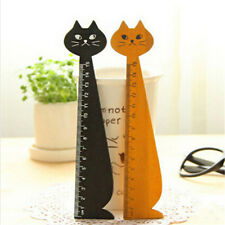 Wood 15cm Straight Ruler Black Lovely Cat Ruler Gift For Kids School Supplies