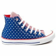Converse Chuck Taylor All Star Hi Blue Red Womens Trainers