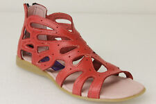 womens 202 red ankle zipper style all real leather huarache sandals
