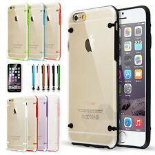Luminous Glow Slim Protective Hybrid Hard Clear Case Armor Cover For iPhone 6S 6