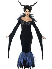 Adult Sexy Maleficent Raven Ladies Halloween Party Fancy Dress Costume Outfit