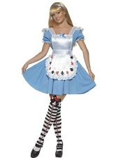 Adult Alice In Wonderland Costume Cards Womens Ladies Fancy Dress Costume UK8-18