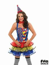 Deluxe Sexy Cutie Clown Ladies Fancy Dress Costume Party Outfit Plus Size 8-30