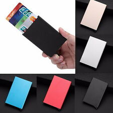 Mens Womens Aluminum Slim ID Credit Card RFID Protector Holder Purse Wallet VB