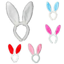 Plush Fluffy Bunny Rabbit Ears Head band Halloween Dress Up  Costume Accessory