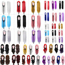 Women Long Curly Wavy Full Wig Heat Resistant Hair Cosplay Party Lolita Costume