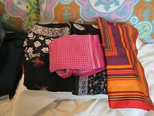 NWT Talbots Scarf  100% Silk Square Variations Seven Choices Made in Japan/Italy