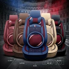 5 seasts Car seat cover+headrest cushion+back pillow+steering wheel cover 2017