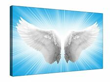 Angel White Wings ~ Canvas Wall Art Picture Print Framed + Sizes