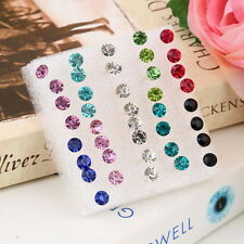 Fashion 1 Box of 20 Pairs Clear Crystal Ear Studs Earrings Allergy set OW