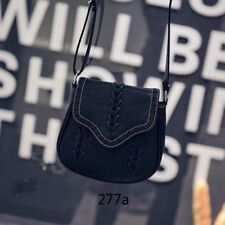 Women New Casual Vintage Fashion Knitting  Pu Leather Cross Body Shoulder Bag