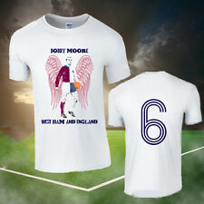 BOBBY MOORE ANGEL WINGS WEST HAM & ENGLAND FOOTBALL T-SHIRT
