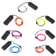 1-5M Colorful Flexible EL Wire Tube Rope Neon Light Glow Controller Decor XP
