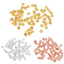 5mm 100pc Lot Pleated Hollow Flower Charms End Finding Beads Caps Jeweley Making