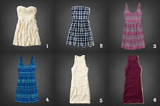 NWT Hollister by Abercrombie Lace Skater Dress Summer Plaid Cream/Blue/Pink