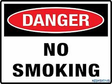 DANGER NO SMOKING SIGN  --  VARIOUS SIZES SIGN AND STICKER OPTIONS