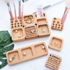 Unfinished Wooden Jewellery Makeup Storage Earrings Ring Jewelry Organiser Box