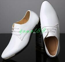Mens Patent Leather Business Oxford pointy Toe Casual Dress Formal wedding Shoes