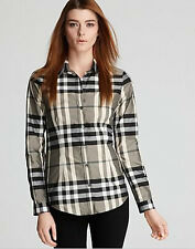 US$325 NWT BURBERRY LONDON BUTTON DOWN CHECK SHIRT BEAT CHECK 8 LAST1 HOT!!!