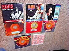 ELVIS PRESLEY 45's & Picture Sleeves + rare full sheet of vintage title strips