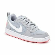 Nike Court Borough Low Grey White Youth Trainers