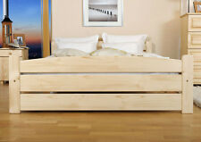 Nadia Solid Pine Wood Bed Frame with Slats [ 4ft6 duble bed ]