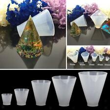 DIY Cone Resin Molds for Making Jewelry Necklace Pendant Charm Tools Accessories