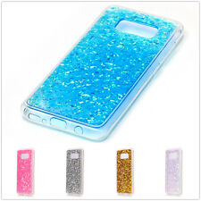 New Glitter Bling ShockProof Soft Clear TPU Back Case Cover For iPhone & Samsung