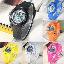 Ohsen Boy Girl Child Casual Sports Wrist Watch Light Alarm Chronograph Calendar