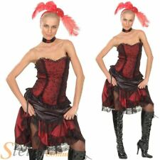 Ladies Saloon Girl Burlesque Can Can Fancy Dress Costume Western Adult Outfit