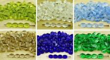 60pcs Crystal Pinch Bicone Faceted Spacer Czech Glass Beads 5mm