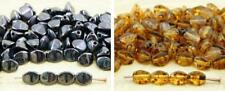 60pcs Picasso Pinch Bicone Faceted Spacer Czech Glass Beads 5mm