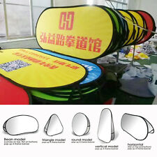 Custom Pop Up A-Frame Foldable Double-sided Banners Venue Race+Hardware included