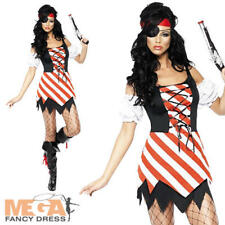 Sexy Fever Pirate Ladies Fancy Dress Adult Costume 8-14